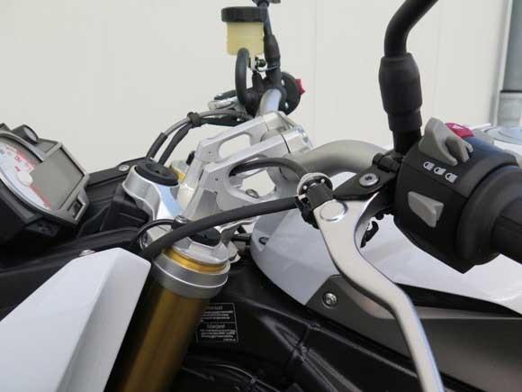 MV Lenkererhöhung und Lenkeradapter mit Versatz BMW S1000R