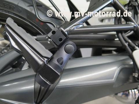 MV Fußrastentieferlegung Sozius 60 mm verstellbar für BMW RnineT und Scrambler und Urban und Pure