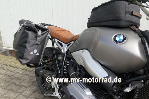 MV Gepäckbrücke für die Soziusraste für BMW Solofahrer - Aluminium, in neuem Design