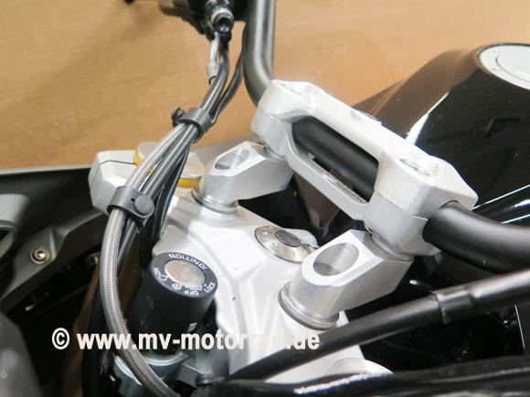 MV Lenkererhöhung und Lenkeradapter mit Versatz BMW R310GS und R310R - 40 mm höher und näher